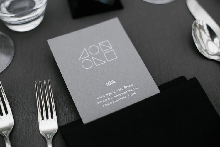 Geometric Wedding Stationery | Monochrome Wedding at Syon Park London | Chris Barber Photography | Second Shooter Beatrici Photography