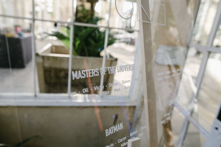 Perspex Table Plan | Monochrome Wedding at Syon Park London | Chris Barber Photography | Second Shooter Beatrici Photography