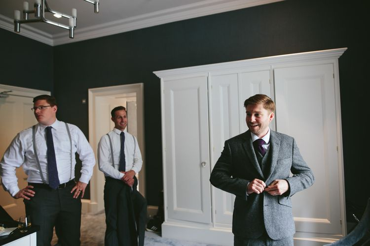 Getting ready   Carlowrie Castle, Edinburgh   Scotland Wedding   Images by Fraser Stewart