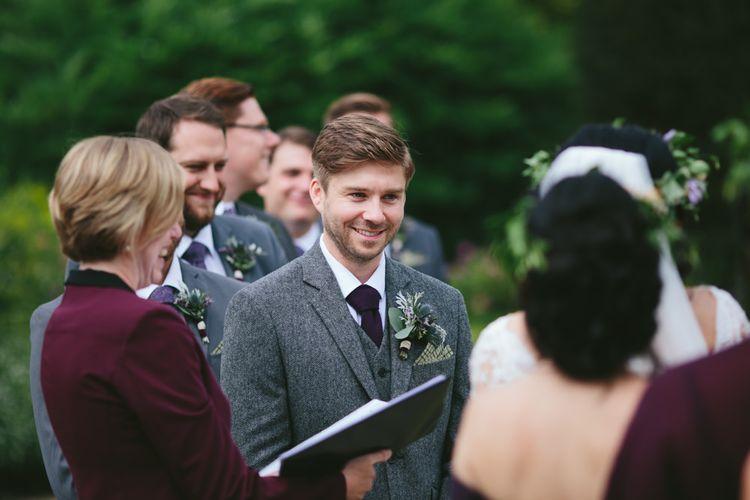 Outdoor Ceremony   Venue   Carlowrie Castle, Edinburgh   Scotland Wedding   Images by Fraser Stewart