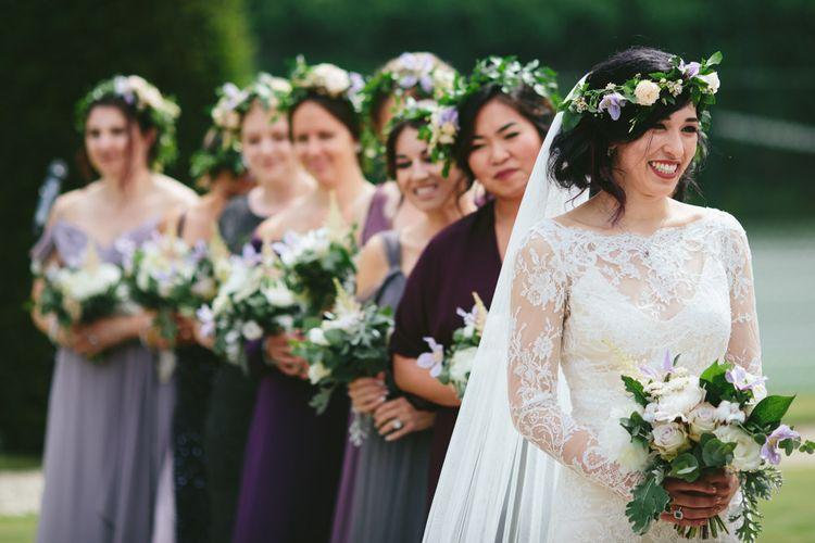 Floral headwear by Rose + Ammi   Carlowrie Castle, Edinburgh   Scotland Wedding   Images by Fraser Stewart