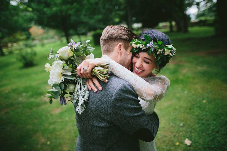 Couple Shots   Carlowrie Castle, Edinburgh, Scotland   Bride wears Dana Bolton   Images by Fraser Stewart