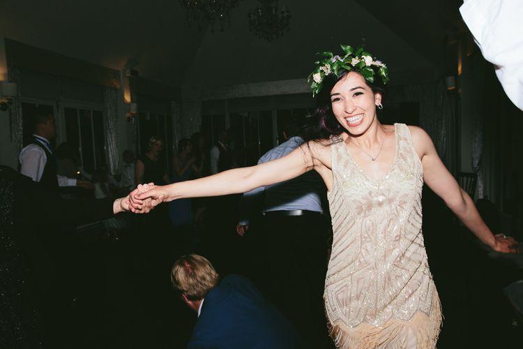 Dancing   Carlowrie Castle, Edinburgh, Scotland   Bride wears Dana Bolton   Images by Fraser Stewart