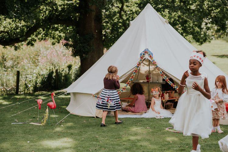 Tipi For Children At Wedding