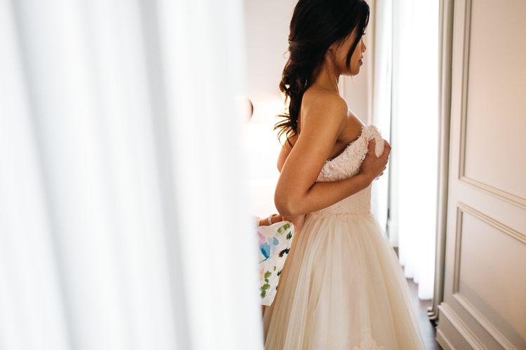 Bridal Preparations   Modern Trousseau Eveline Wedding Dress   Stefano Santucci Studio Photography   Second Shooter Giuseppe Marano   Gattotigre Films