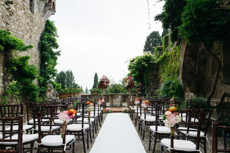 Outdoor Aisle & Altar Style   Stefano Santucci Studio Photography   Second Shooter Giuseppe Marano   Gattotigre Films