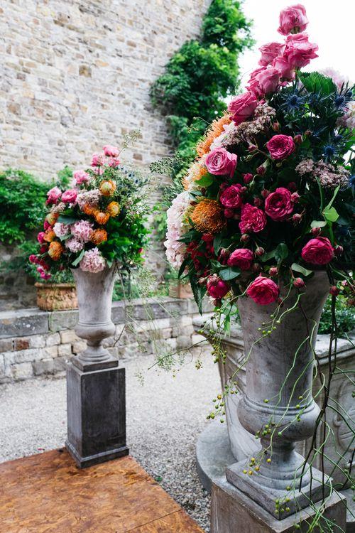 Bright Floral Arrangements   Outdoor Aisle & Altar Style   Stefano Santucci Studio Photography   Second Shooter Giuseppe Marano   Gattotigre Films