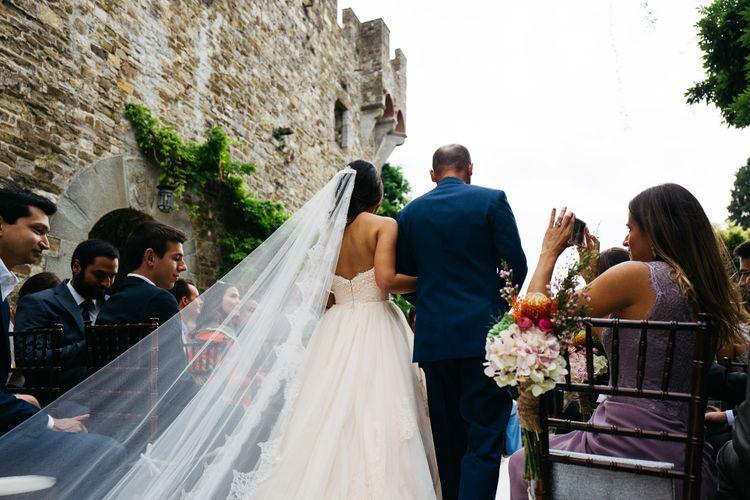 Bride Walking Down the Aisle   Stefano Santucci Studio Photography   Second Shooter Giuseppe Marano   Gattotigre Films
