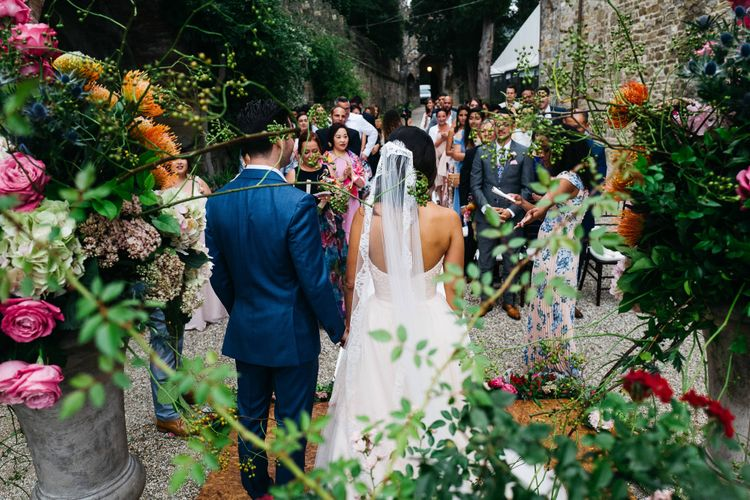 Bride & Groom Outdoor Wedding Ceremony   Stefano Santucci Studio Photography   Second Shooter Giuseppe Marano   Gattotigre Films