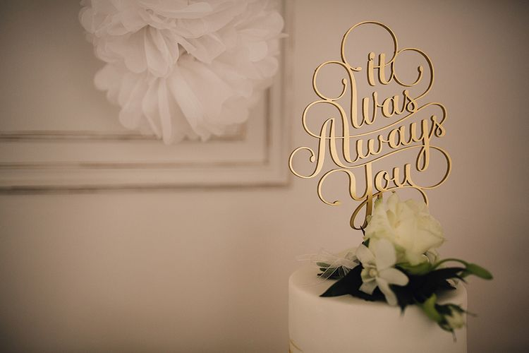 It Was Always You Laser Cut Wooden Cake Topper