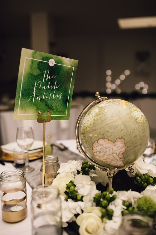 Green Globe Table Centrepiece