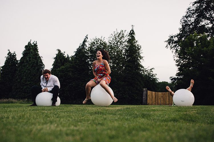 Wedding Guests Space Hopper Race