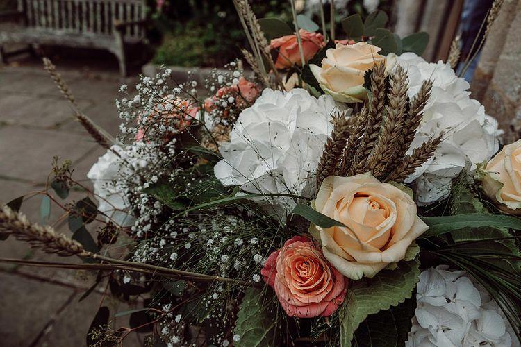 Wedding Flowers   Traditional Church Wedding Ceremony with Blush Colour Scheme   Jason Mark Harris Photography   Harris Films