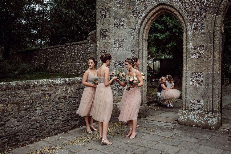 Needle & Thread Bridesmaid Dresses   Traditional Church Wedding Ceremony with Blush Colour Scheme   Jason Mark Harris Photography   Harris Films
