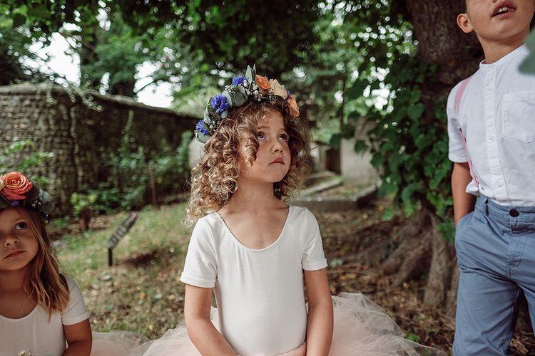Flower Girl   Traditional Church Wedding Ceremony with Blush Colour Scheme   Jason Mark Harris Photography   Harris Films