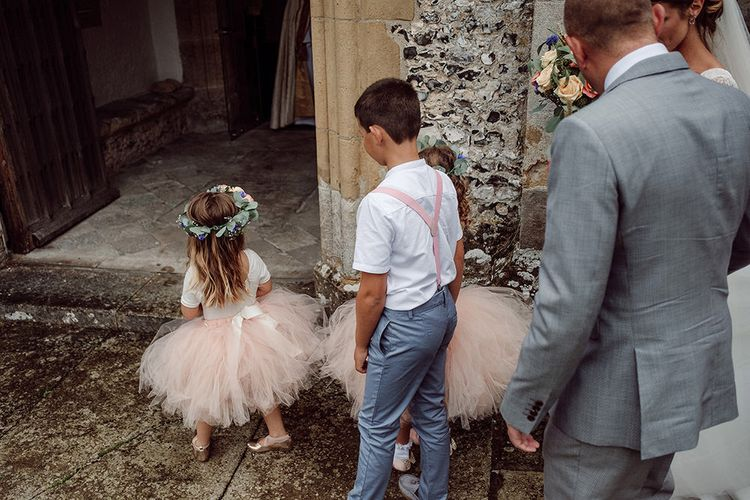 Flower Girl & Page Boys   Traditional Church Wedding Ceremony with Blush Colour Scheme   Jason Mark Harris Photography   Harris Films