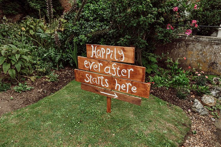 Wedding Sign   Rustic At Home Tipi Reception with Blush Colour Scheme   Jason Mark Harris Photography   Harris Films