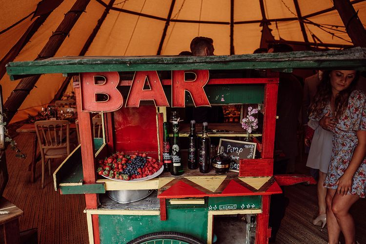 Pimp Your Prosecco Bar   Rustic At Home Tipi Reception with Blush Colour Scheme   Jason Mark Harris Photography   Harris Films