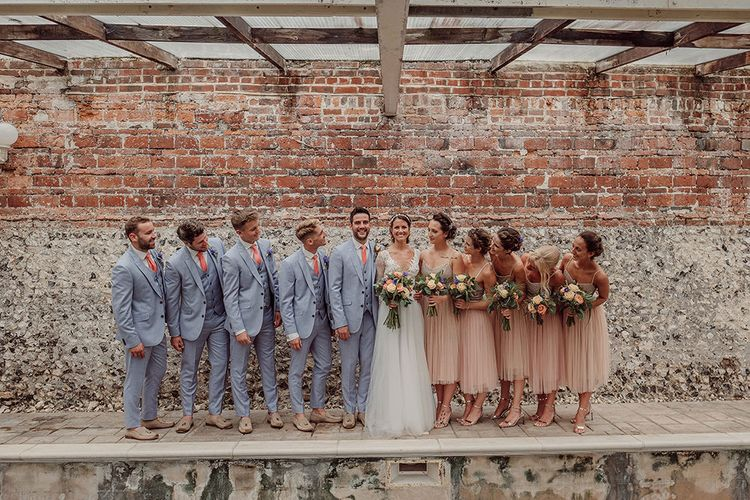 Wedding Party   Rustic At Home Tipi Reception with Blush Colour Scheme   Jason Mark Harris Photography   Harris Films