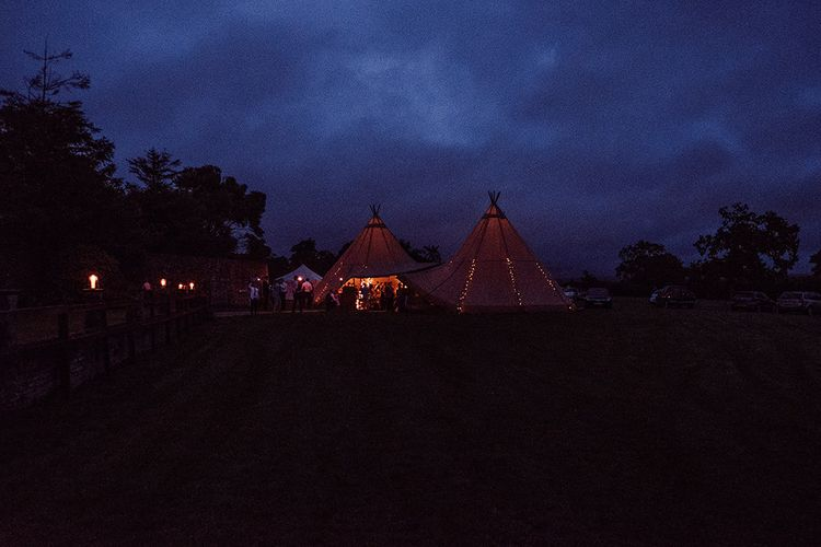 Rustic At Home Tipi Reception with Blush Colour Scheme   Jason Mark Harris Photography   Harris Films