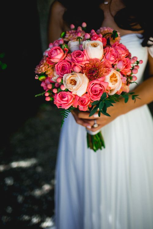 Coral Bridal Bouquet
