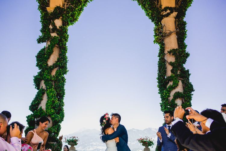 Outdoor Wedding Ceremony at Villa del Balbianello in Italy