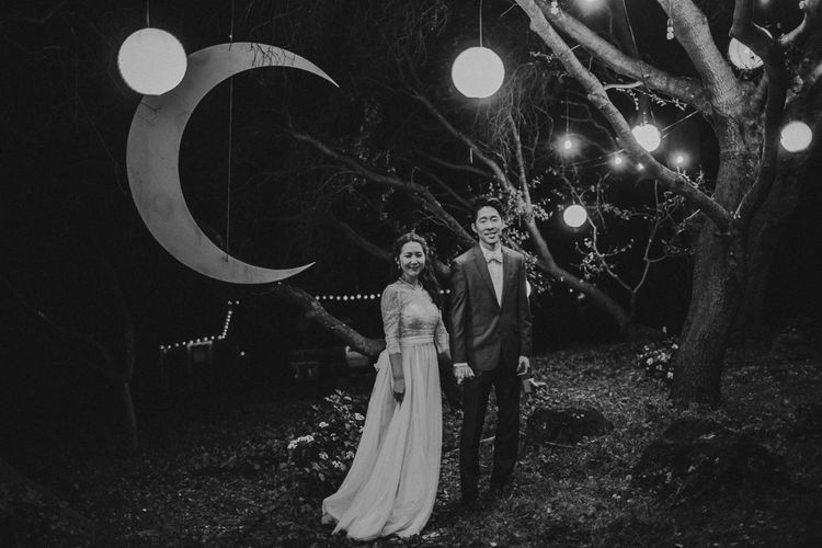 Moon & Stars Back Drop For Wedding PhotoBooth | Images By Matt Horan Photography