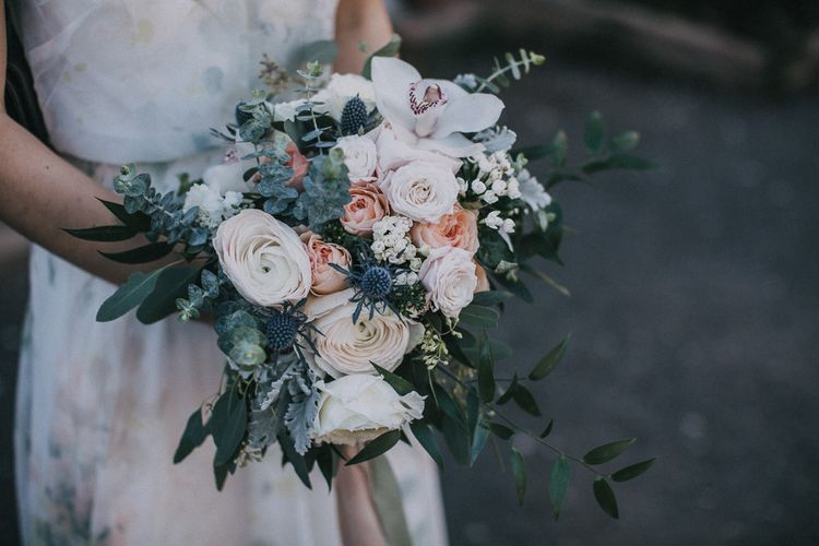 Wedding Bouquet With Roses Foliage & Berries | Images by Matt Horan Photography