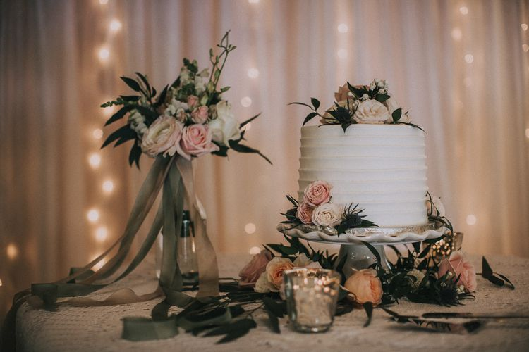 Wedding Cake With Fresh Flowers | Images by Matt Horan Photography