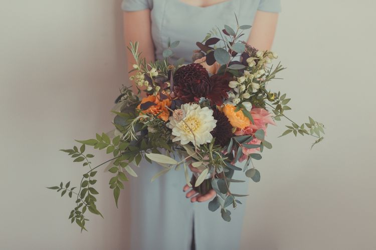 Wild Autumnal Bridal Bouquet