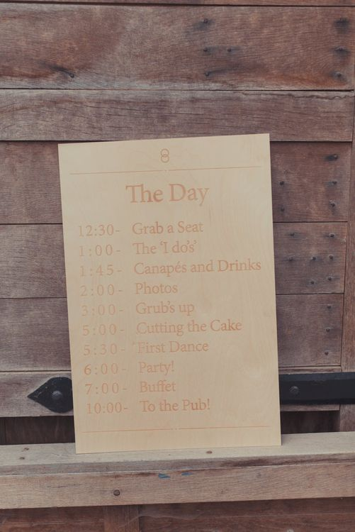 Engraved Wooden Order of The Day Sign