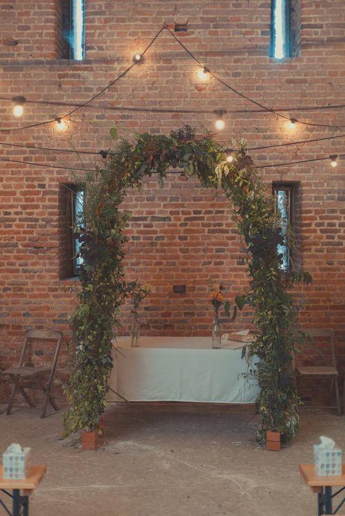 Greenery Altar Arch