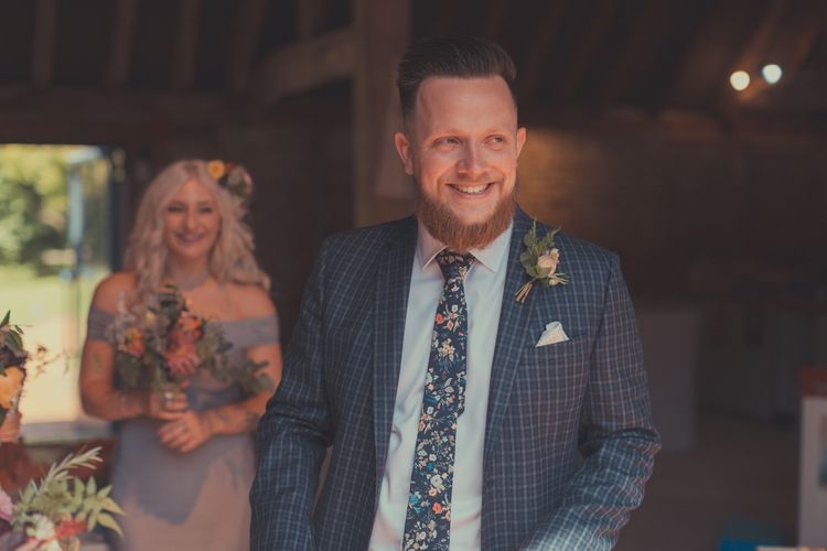 Groom in Gucci Suit