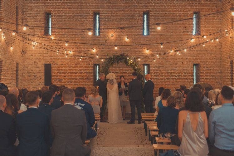 Rustic Wedding Ceremony at Tithe Barn in Hampshire