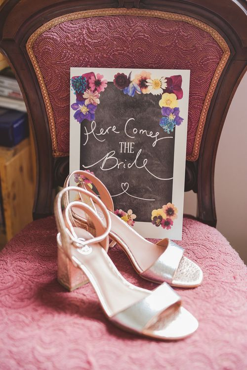 Ash Footwear Bridal Shoes | Outdoor Ceremony at Sulgrave Manor Northamptonshire | Nicola Casey Photography