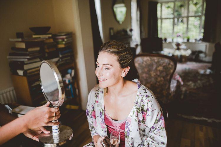 Bridal Preparations | Outdoor Ceremony at Sulgrave Manor Northamptonshire | Nicola Casey Photography