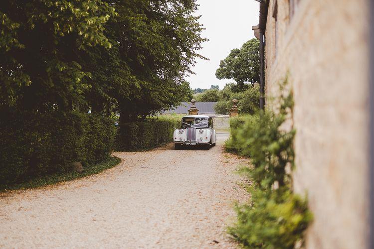 Vintage Wedding Car | Outdoor Ceremony at Sulgrave Manor Northamptonshire | Nicola Casey Photography