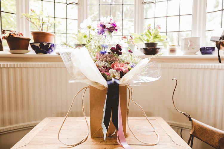 Wedding Bouquet | Outdoor Ceremony at Sulgrave Manor Northamptonshire | Nicola Casey Photography