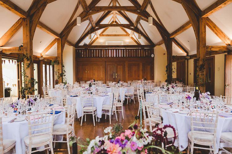 Barn Reception | Outdoor Ceremony at Sulgrave Manor Northamptonshire | Nicola Casey Photography