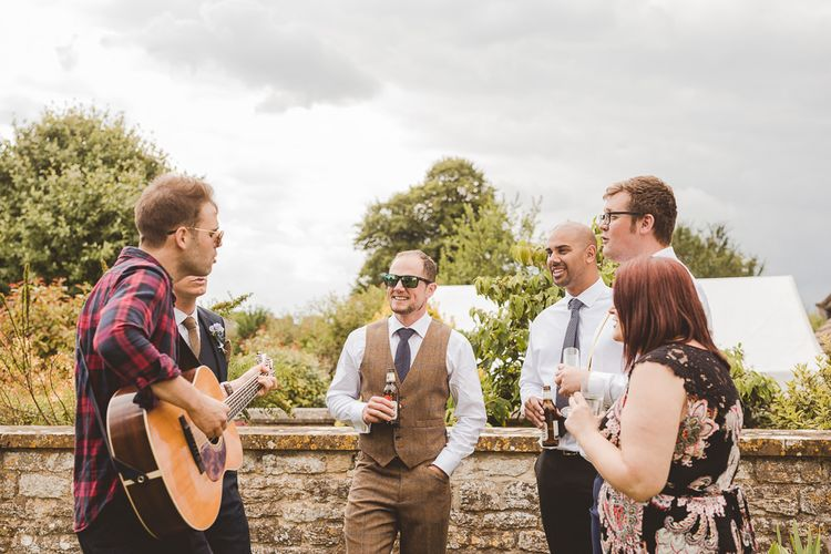 Wedding Guests | Outdoor Ceremony at Sulgrave Manor Northamptonshire | Nicola Casey Photography