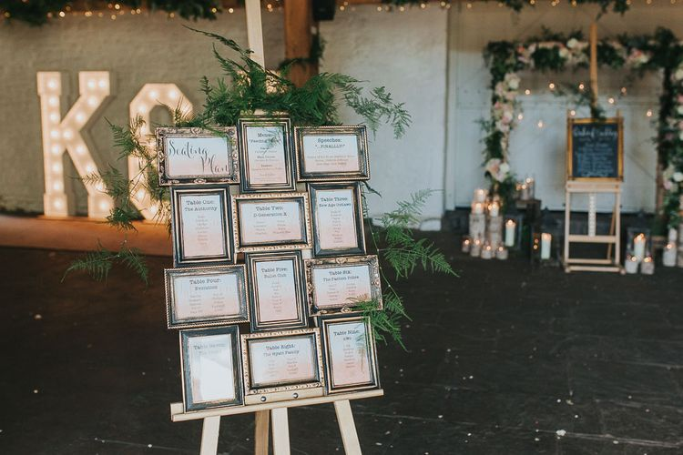 Multi Aperture Frame Table Plan | Pink & Gold Summer Wedding at East Riddlesden Hall Barn, Wiltshire | Laura Calderwoods Photography