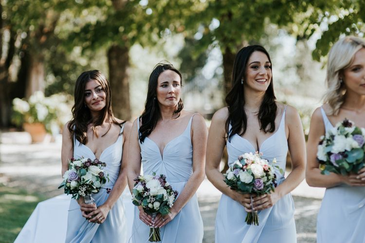 Bridesmaids In Baby Blue Dresses By Zimmerman