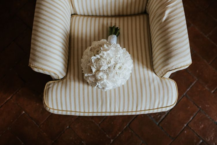 White Rose Structured Wedding Bouquet