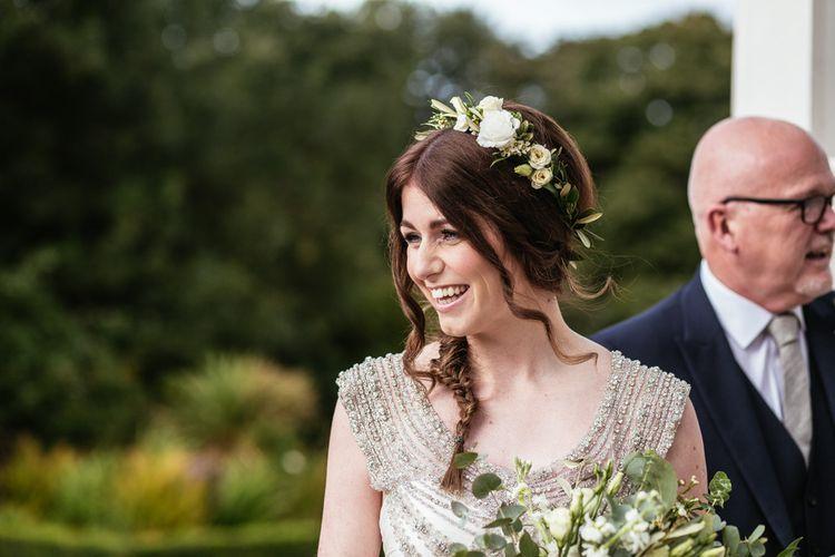 Bridal Beauty   Side Braid   Flower Crown