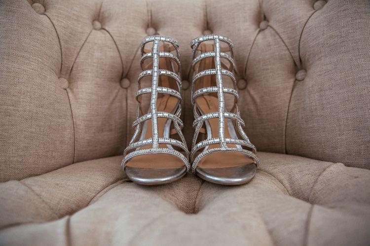 Aldo Silver Sandal Wedding Shoes