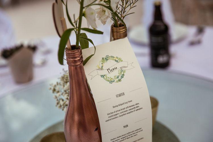 Botanical Wedding Stationery Menu