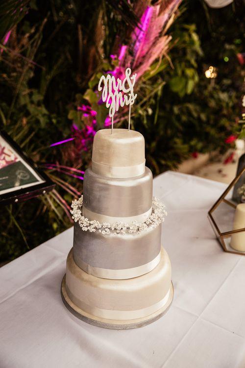 Silver Layer Wedding Cake
