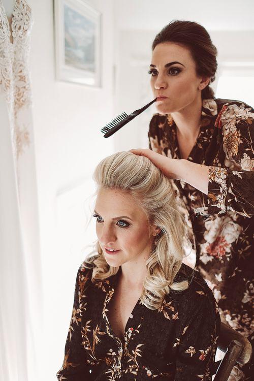 Beautiful Bride Getting Ready For Wedding