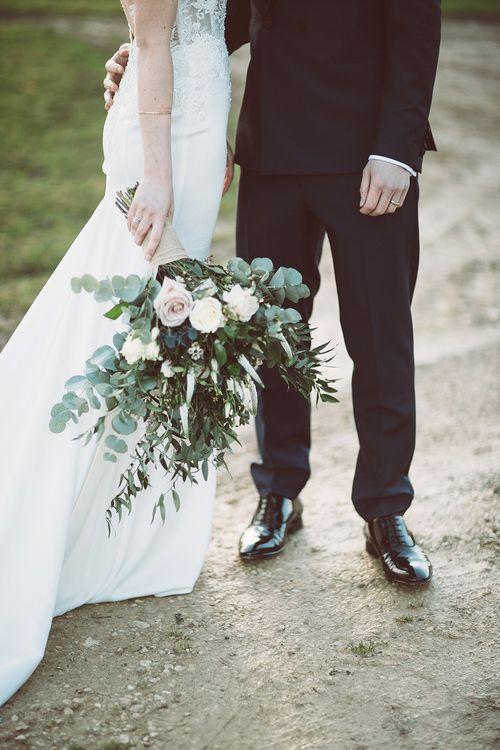 Oversized Wedding Bouquet With Roses & Foliage