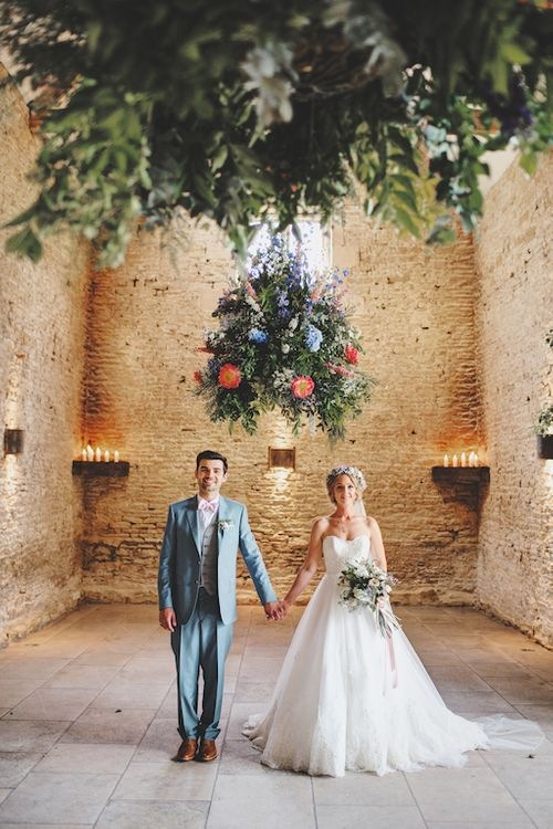 Hanging Floral Arrangement at Stone Barn